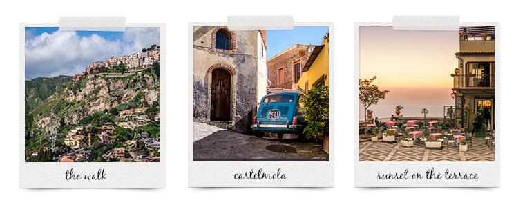 polaroid taormina, sicily | curatedlifestudio.com