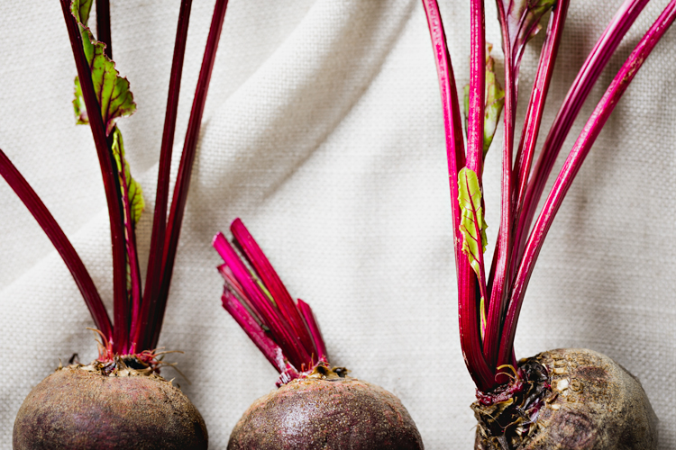 roast beetroot salad with pear & brussels sprout slaw | www.curatedlifestudio.com