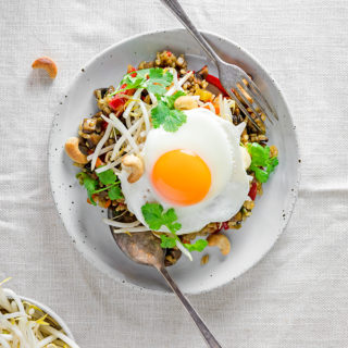 vegetarian nasi goreng recipe | curatedlifestudio.com