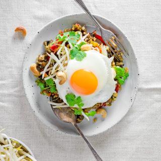 vegetarian nasi goreng recipe | curatedlifestudio.com