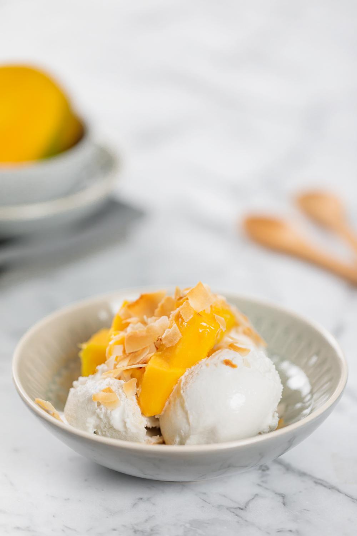 coconut & vanilla ice cream recipe | www.curatedlifestudio.com