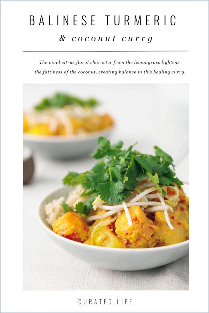 balinese turmeric & coconut vegetable curry #vegan | curatedlifestudio.com