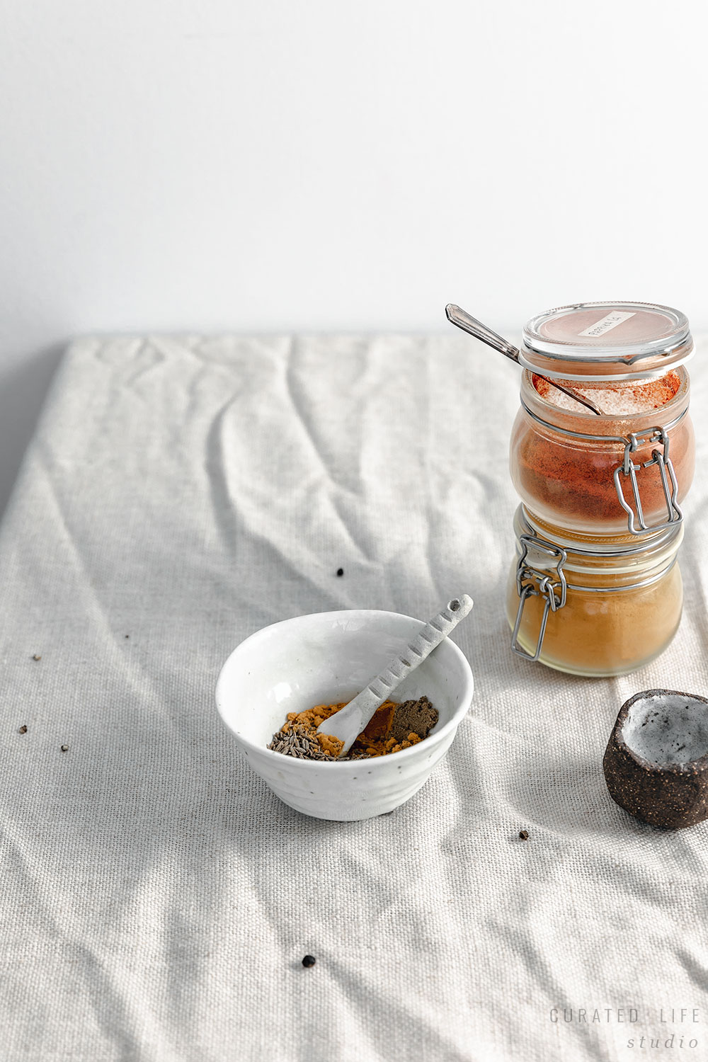 Spices in a small jar