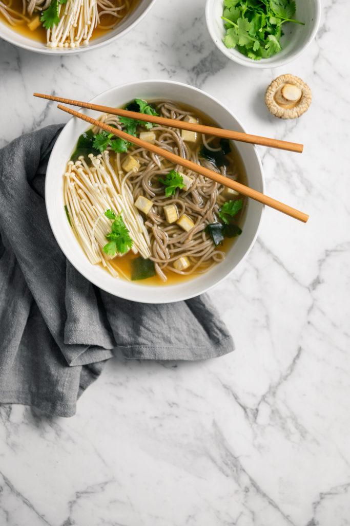 5 Day Weeknight Vegetarian Meal Plan (Gluten Free & Vegan)  Day 3 - Vegan Miso Soup with Enoki Mushrooms (Recipe By Curated Life Studio)  #meal-plan #vegetarian #gluten-free #vegan