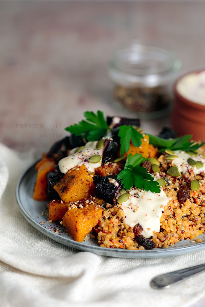 5 Day Weeknight Vegetarian Meal Plan (Gluten Free & Vegan)  Day 2 - Middle Eastern Inspired Roast Vegetable and Quinoa Salad (Recipe Development - Watch This Space!)  #meal-plan #vegetarian #gluten-free #vegan