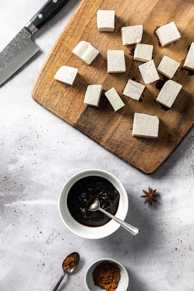 Homemade Chinese BBQ Tofu (Char Sui)  #easy #vegetarian #authentic #recipe #vegan #healthy #chinese #sauce