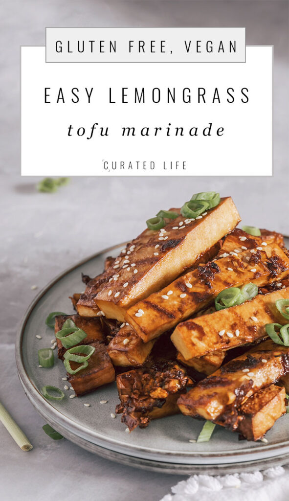 (Pinterest Heading)  #Vietnamese #Recipe #Vegan #Spicy #Crispy #Marinade #Easy #Lemongrass #Tofu